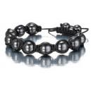Feng Shui Hematite Crystal Shamballa Bracelet